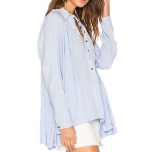 NWT Gorgeous Blue Free People Top